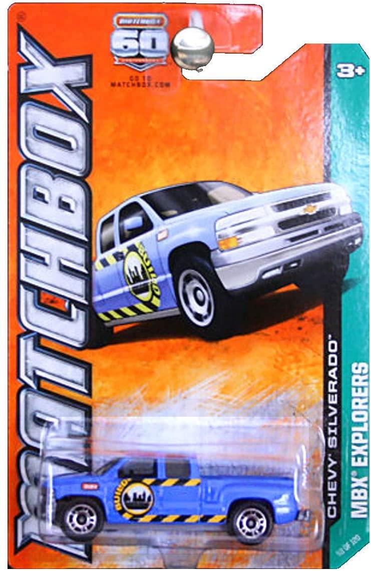 Matchbox 2013 MBX Explorers Chevrolet Chevy Silverado Truck Pickup Blue