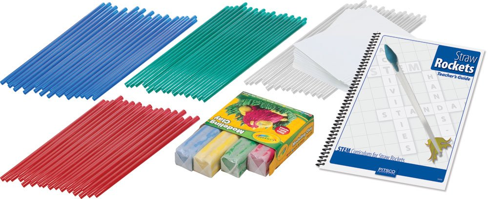 Pitsco Straw Rocket Class Pack with Teacher's Guide