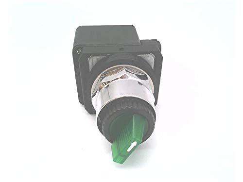 RADWELL VERIFIED SUBSTITUTE 800T-2HGH4KL8DX-SUB ILLUMINATED, N/O, 2-POSITION, SELECTOR SWITCH, UNIVERSAL LED, GREEN, 12-130V AC/DC, SPRING RETURN FROM LEFT, METAL, STD KNOB, SUBSTITUTE FOR ALLEN BRADL