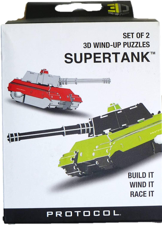Set of 2 3D Wind-up Super Tank Puzzles