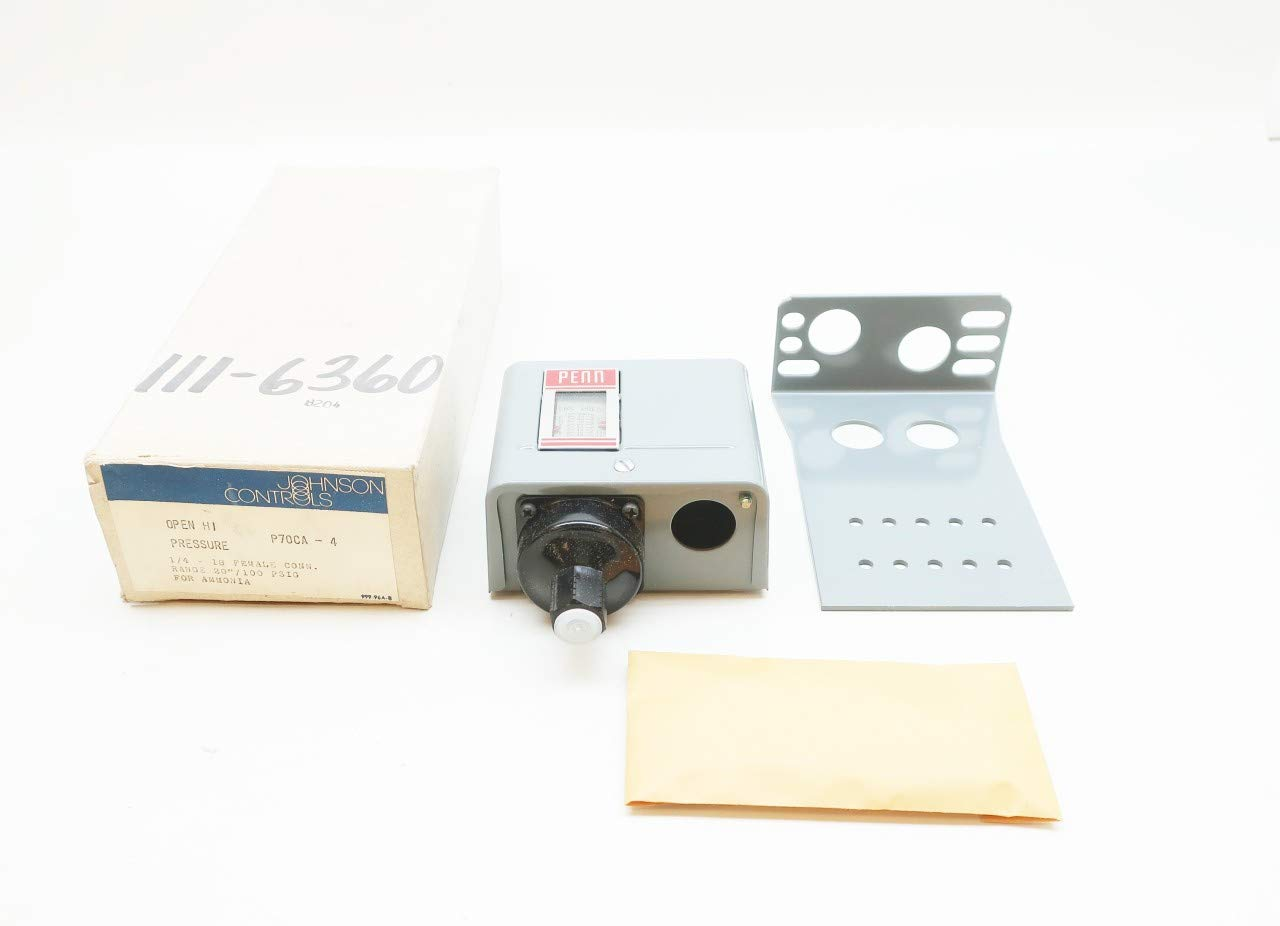 JOHNSON CONTROLS P70CA-4 1/4IN-18 for Ammonia Open HI Pressure Switch -20-100PSI
