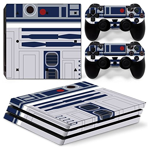 ZoomHit Ps4 PRO Playstation 4 PRO Console Skin Decal Sticker R2D2 + 2 Controller Skins Set (Pro Only)