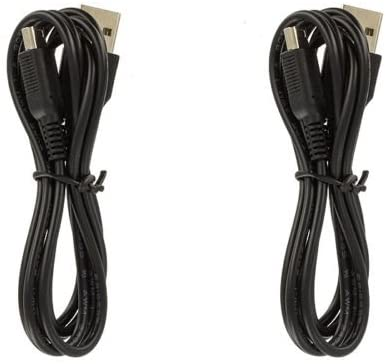 WOVTE USB Charger Power Cable for Nintendo 3DS/DSI/DSIXL Pack of 2