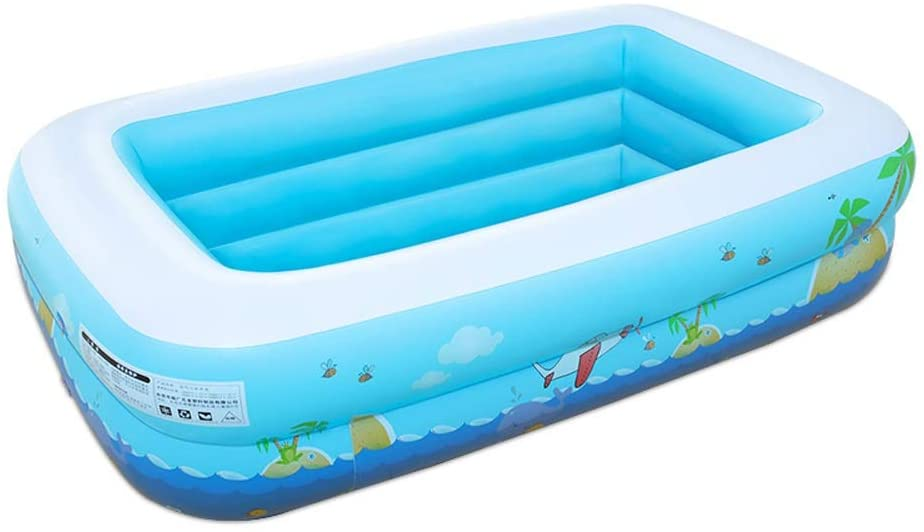 OUUED Inflatable Family Swimming Pool, Blow up Pool for Children's Inflatable Swimming Pool Household Ocean Ball Adult Baby Bath tub 1.15 Meters Printed Second Ring Printing Bubble Bottom