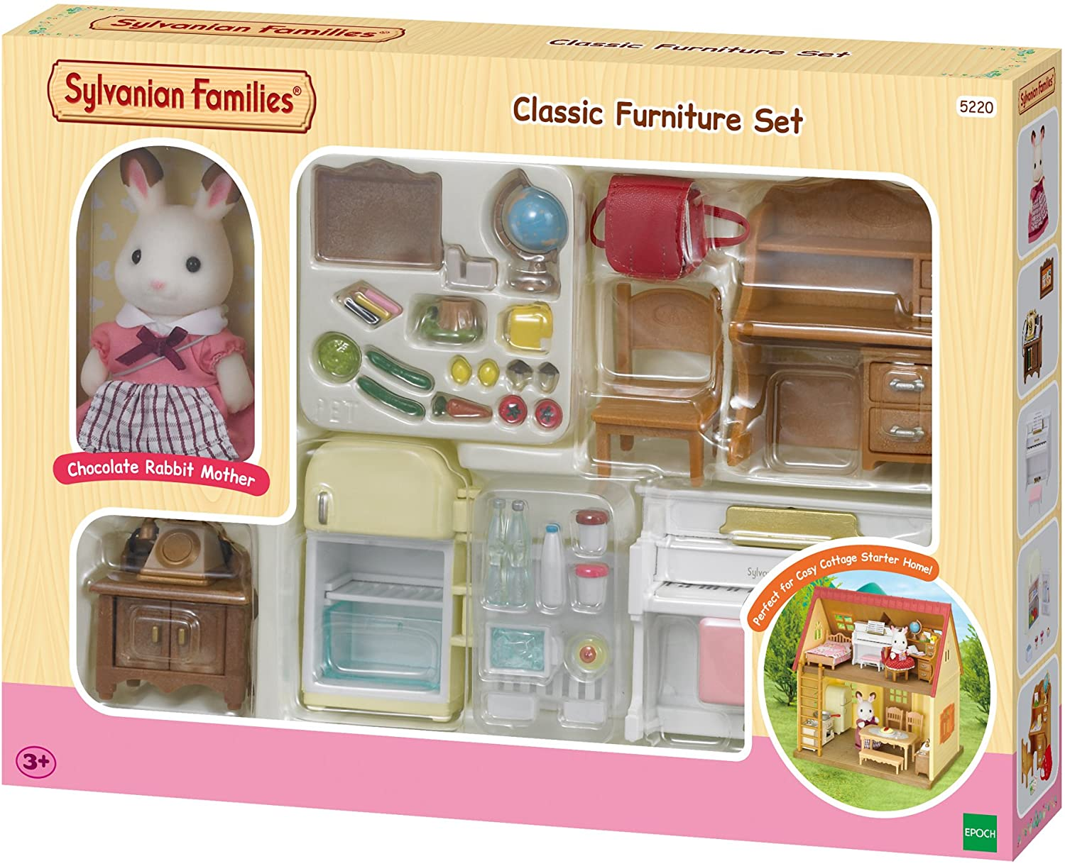 Sylvanian Families Classic Furniture Set for Cosy Cottage Starter Home, Multicolor