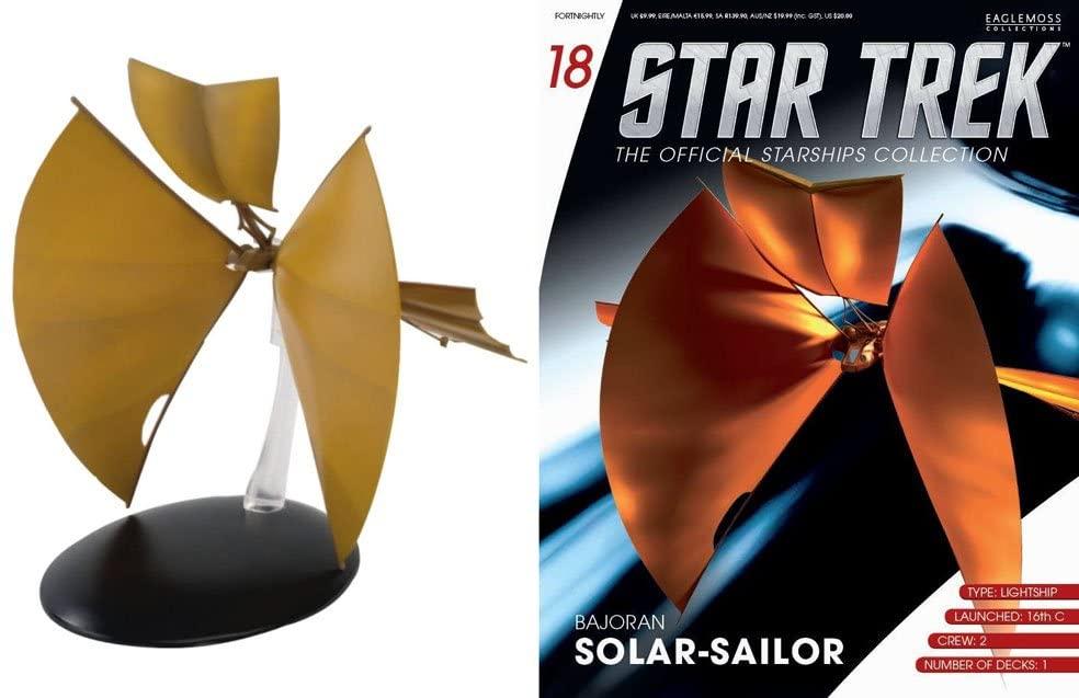 #18 Star Trek BAJORAN SOLAR SAILOR Eaglemoss Die-Cast Metal Ship w Magazine- from UK