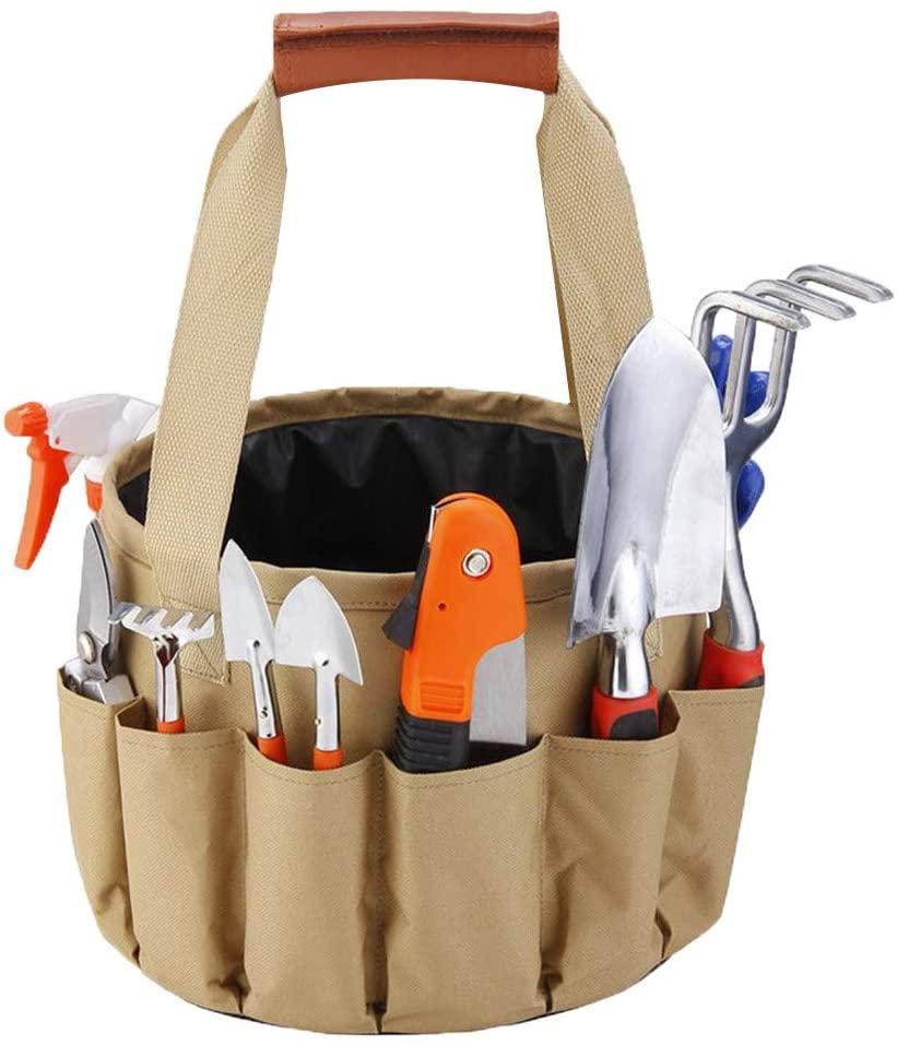 Giveyo Garden and Garden Tools Canvas Bag Combination Set Aluminum Alloy Shovel Garden Scissors Bucket Cloth Bag 1 Set of 10