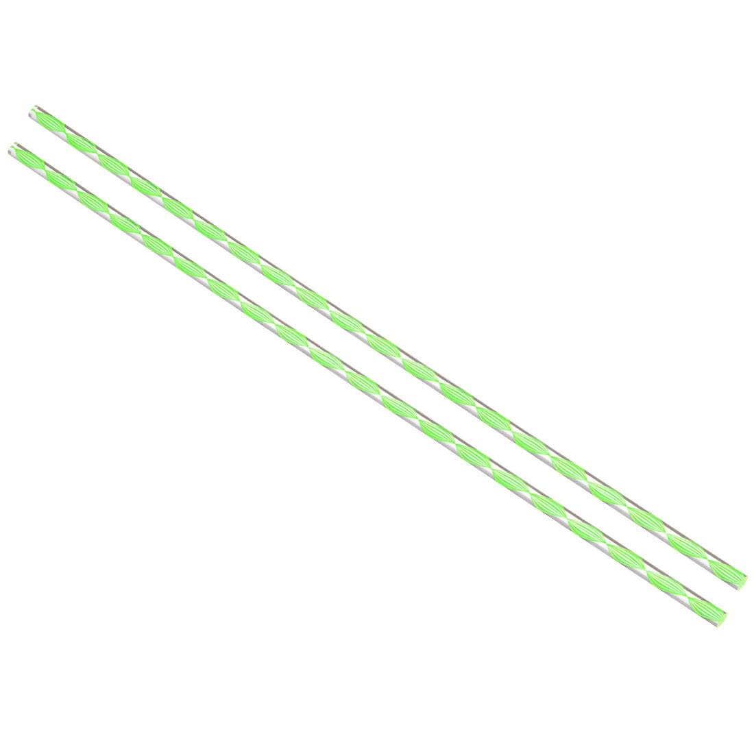 uxcell Acrylic Round Rod,3/8 inch Diameter 20 inch Length,Spiral Green Line,Solid Plxi Glass Plastic Lucite PMMA Bar Stick 2pcs
