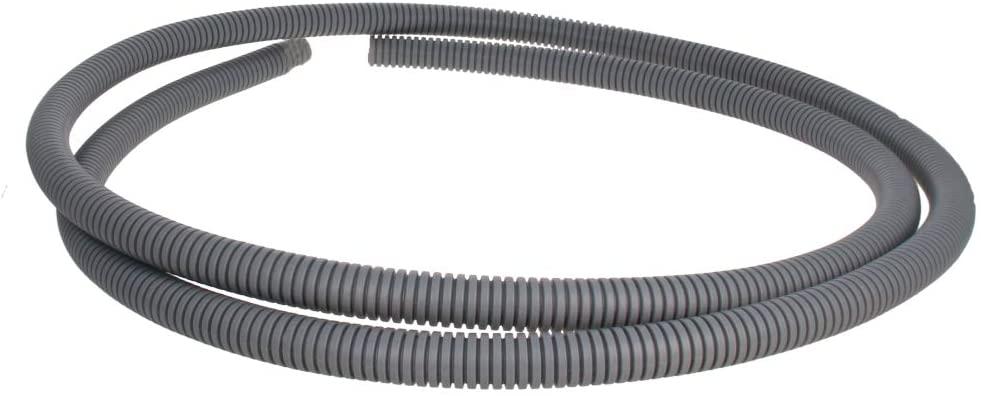 Othmro 12mmx2m Grey Flexible Corrugated Tube Hose Polypropylene(PP) Cable Tubing Conduit Pipe Tubing Hose