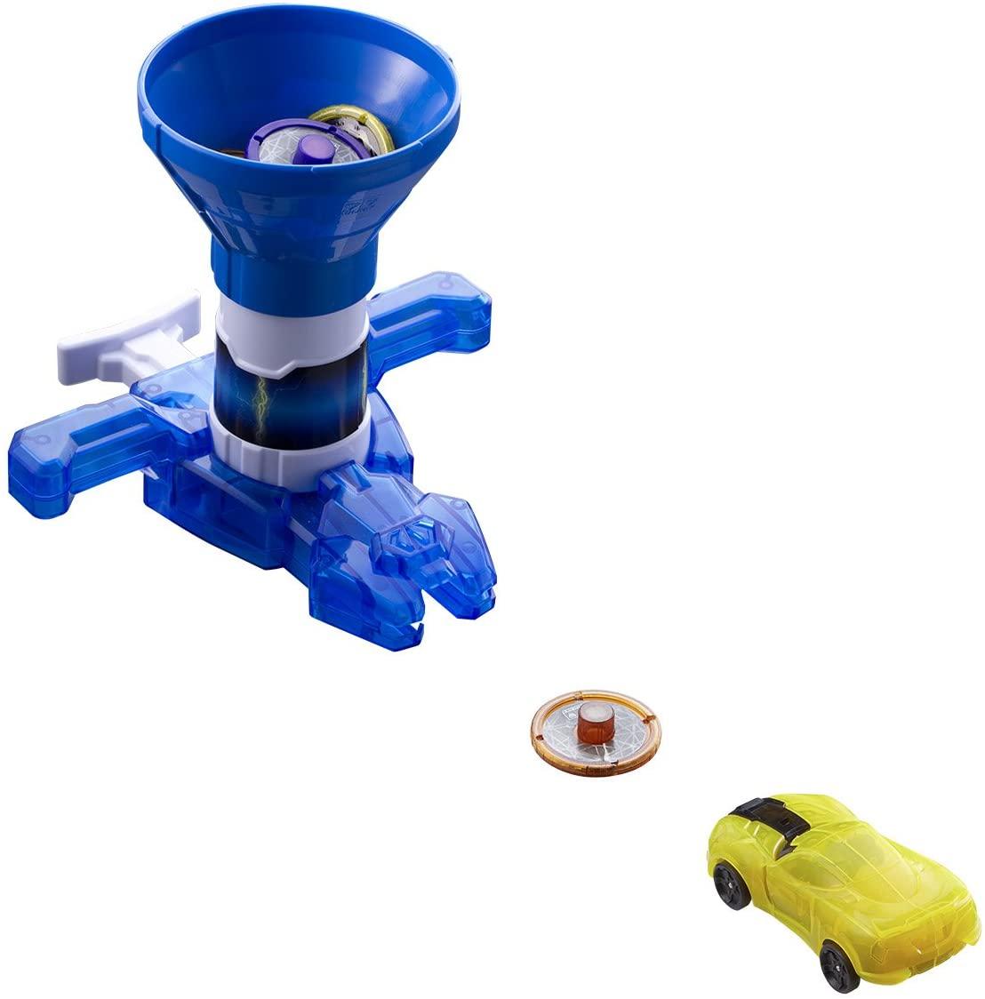 Screechers Wild - US683153 Rapid Fire Disc Blaster Flipping Morphing Toy Car Vehicle, Blue, 6'' x 5''