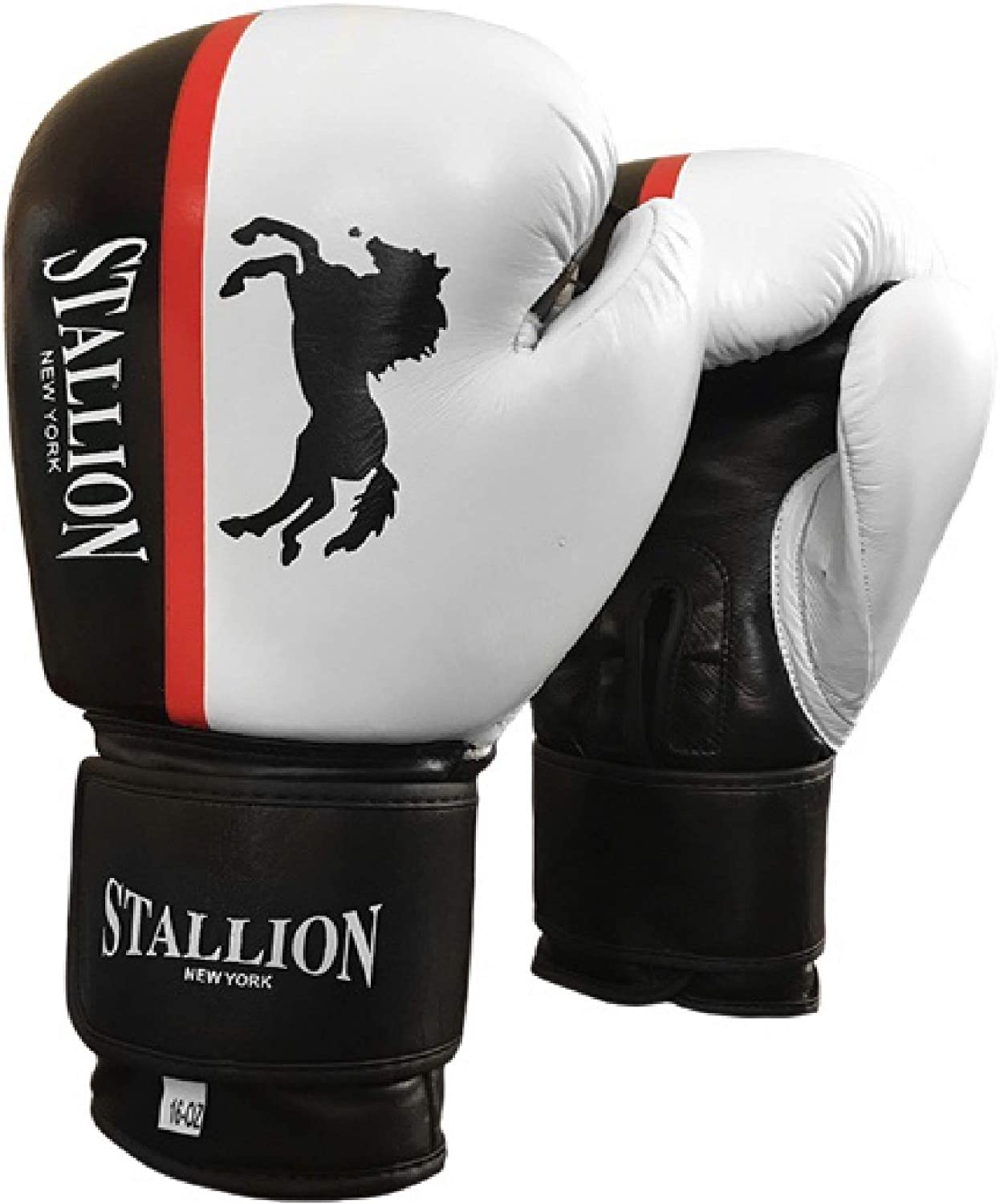 STALLION NEW YORK All Pro Boxing Gloves - Classic Stealth Bomber Series - Genuine Leather - Superior Velcro Gloves for Bag/Sparring - State-of-The-Art Quality