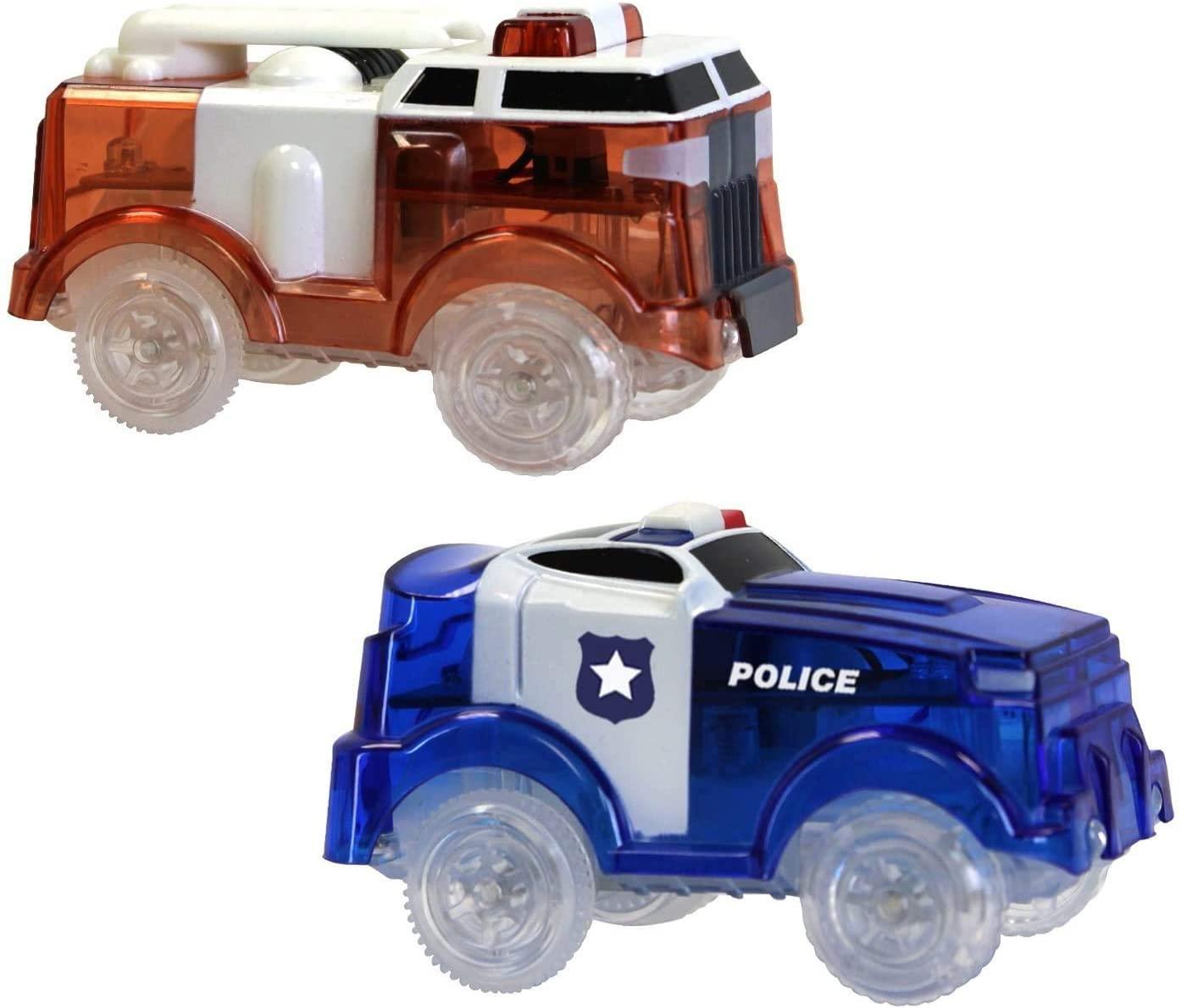 Ontel Magic Tracks - Fire Truck & Police Car