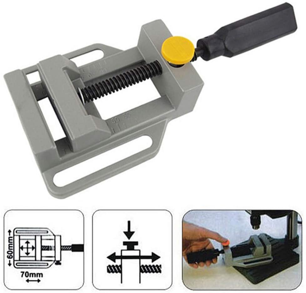 Ochoos ELEG-Aluminum Mini Flat Clamp for Drill Stand Handle Engraving Workbench DIY Tool Milling Machine Manual Clamps Woodworking Be