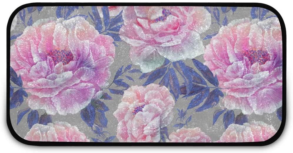Rectangle Shaggy Rug Kitchen Rug for Kids Beautiful Blossom Flowers Inside Floor Anti-Slip Rug Rectangle Carpet Play Mat