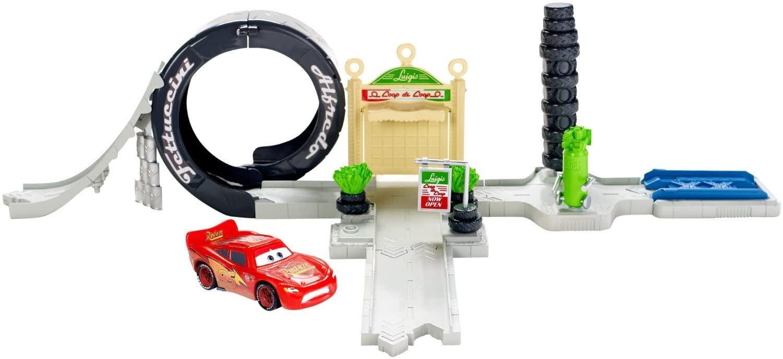 Pixar Disney Cars 1:55 Scale Diecast Cars Luigi's Loop Playset Metal Toys