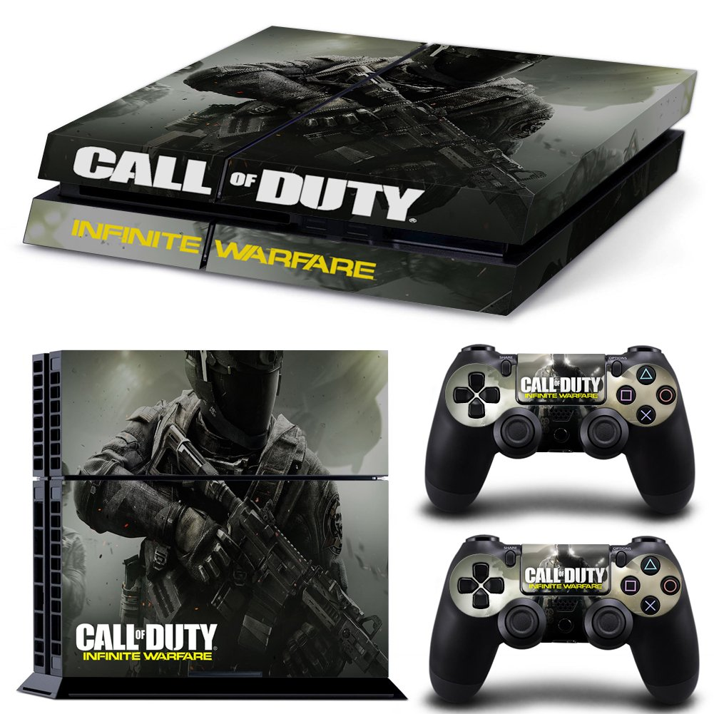 Ps4 Playstation 4 Console Skin Decal Sticker Call Of Duty Infinite Warfare + 2 Controller Skins Set