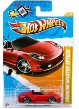 Hot Wheels 2012, Porsche Boxster Spyder (Red), 2012 New Models, # 26/247. 1:64 Scale Die Cast.