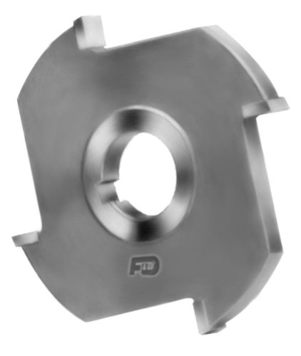 F&D Tool Company 12017B-AC5081 Carbide Tipped Side Milling Cutter, Non Ferrous, 1
