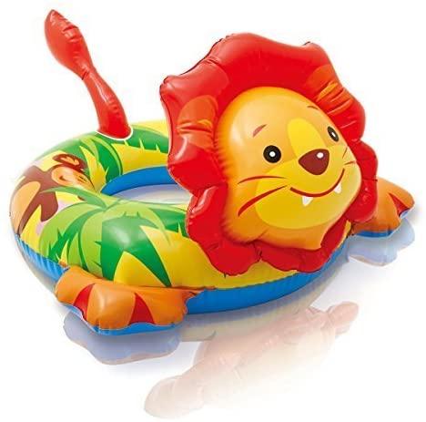 Intex Lion Big Animal Inflatable Swim Ring (3-6 Years, 28x26 inches)