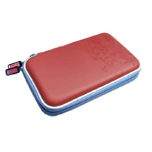 OSTENT 3 in 1 Airform Protect Hard Travel Carry Case Cover Pouch Bag Compatible for Nintendo DSi NDSi Color Red