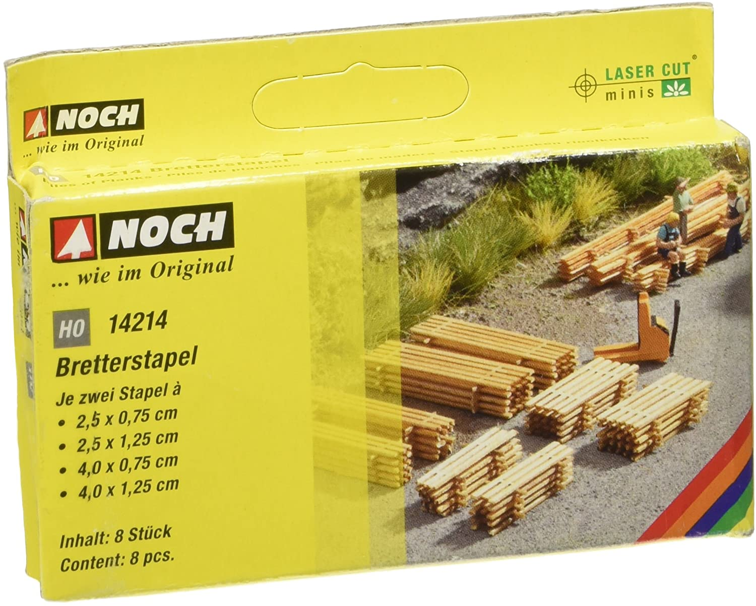 Noch 14214 Piles of Planks 8/ H0 Scale Model Kit