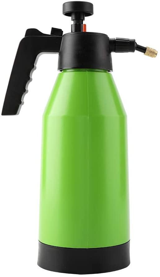 TOPINCN Handheld Pressure Sprayer Bottle 2L Portable Garden One-Hand Pump Action Adjustable Spraying Modes Planting Gardening Tool for Watering & Cleaning