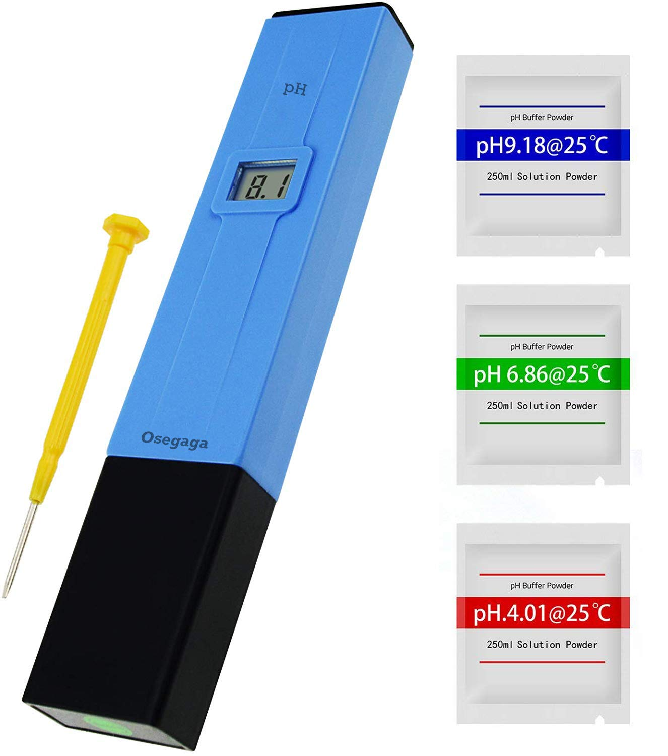 High Precision Digital PH Meter, PH Measuring Instrument 0.00-14.00 pH ATC Automatic Temperature Compensation