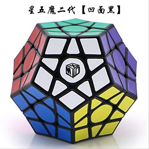 QIYI X-Man Galaxy V2 3x3 Megaminx Dodecahedron Magic Cube Puzzle Cube Speed Cube for Competition Color Concave Black