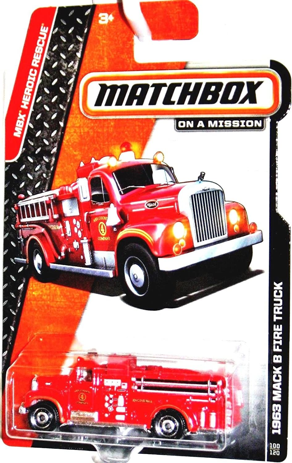 Matchbox 2014 On a Mission Mbx Heroic Rescue - 1963 Mack B Fire Truck 100/120