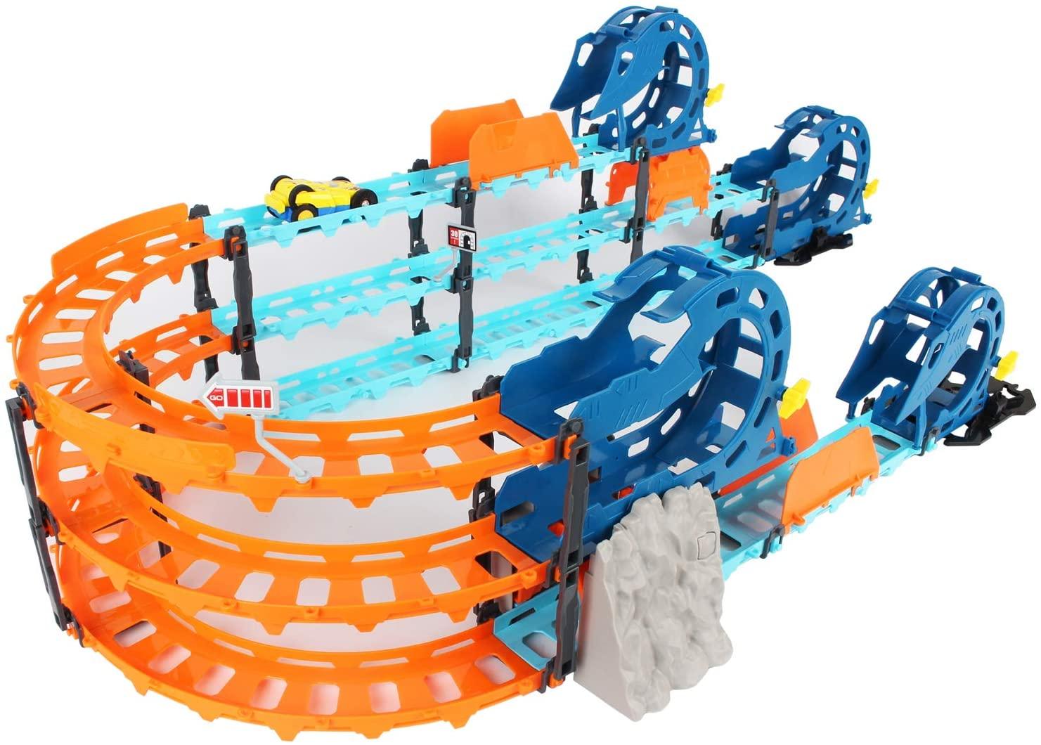 FeiWen Racing Track Car Toys-84PCS Electric Rail car Racing Track Set,Educational Toy Set Children Gift Children's Toys 3-6 Years