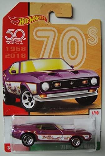Hot Wheels 70s, Magenta '71 Mustang MACH 1 1/10 50TH Anniversary