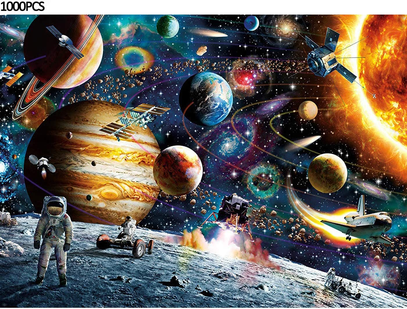 Puzzles for Adults, Planets in Space Jigsaw Puzzles 1000 Pieces, Puzzles for Kids, Gifts for Kids Home Decor