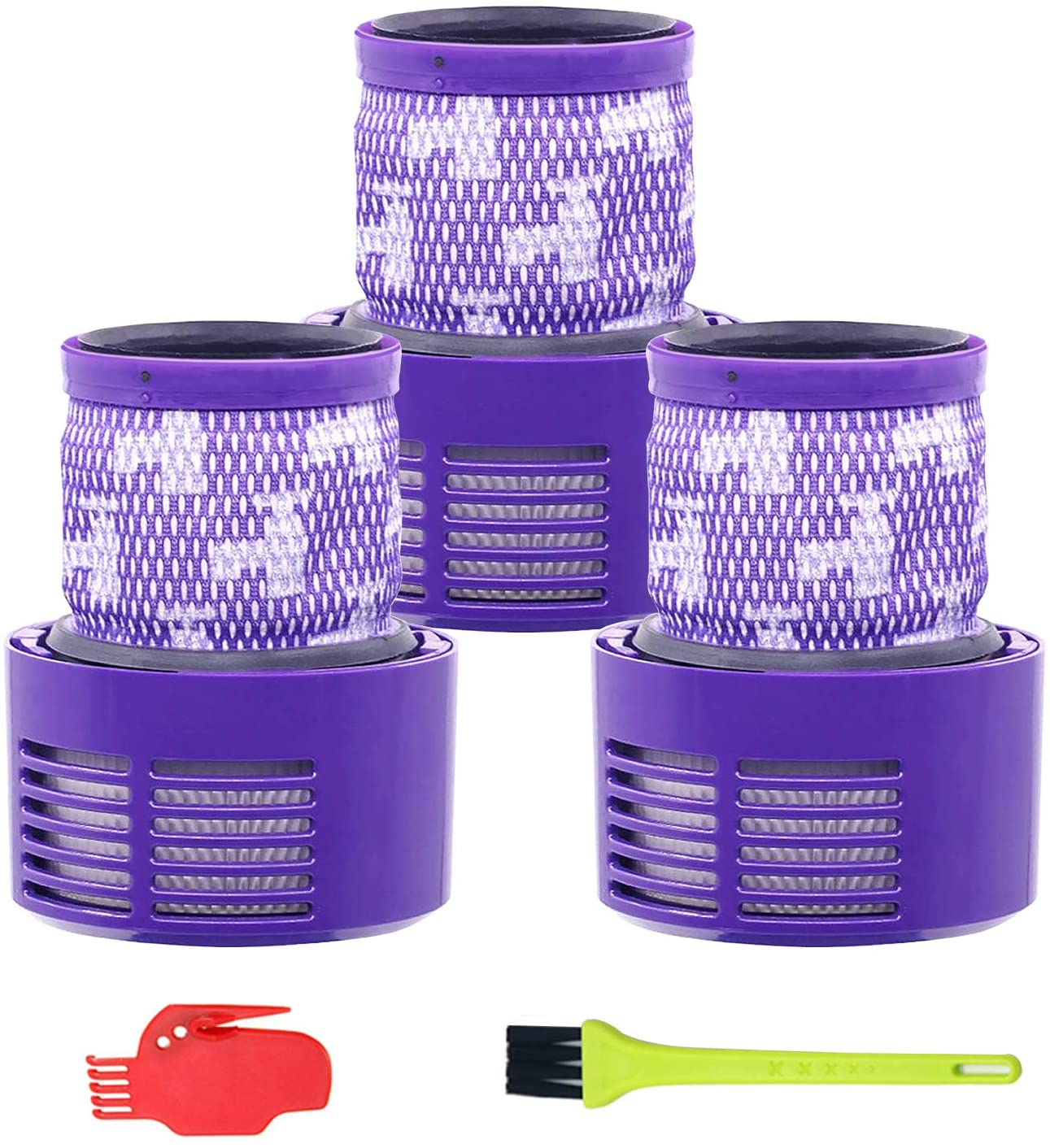 ilovelife 3 Pack Vacuum Replacement Filter for Dyson V10 SV12, Compatible with Dyson Part No. 969082-01 Filter