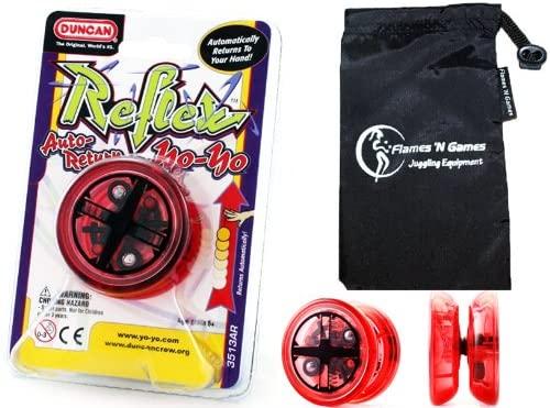 Duncan Reflex (Auto-Return) YoYo (Red) Professional YoYo with Travel Bag! Pro YoYos For Kids and Adults