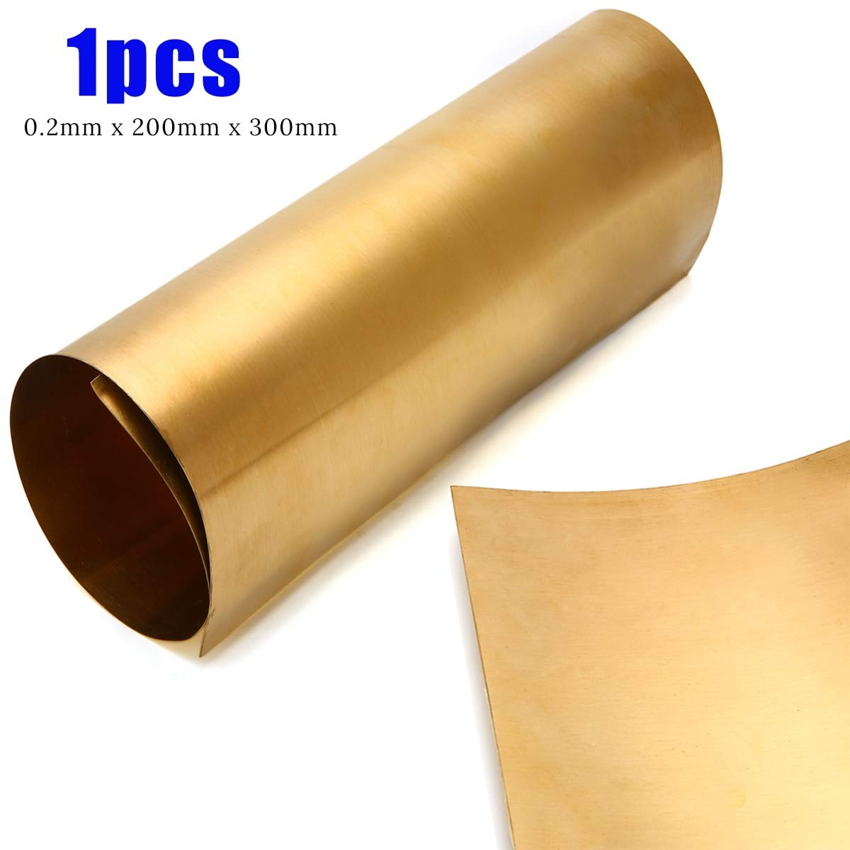 1pc Brass Sheet Mayitr Brass Metal Thin Sheet Foil Plate Shim with Corrosion-Resistant for Metalworking 0.2 x 200 x 300mm