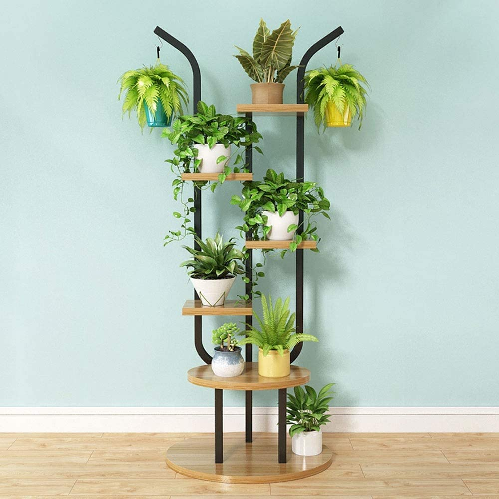 KMMK Plant Stand,Flower Stand Flower Stand, Floor-Standing Multi-Layer Home Creative Wrought Iron Decorative Plant Display Stand, Suitable for: Living Room/Balcony/Outdoor/Garden, 6 Colors Available