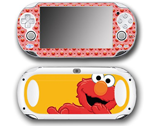 Sesame Street Tickle Me Elmo Video Game Vinyl Decal Skin Sticker Cover for Sony Playstation Vita Regular Fat 1000 Series System