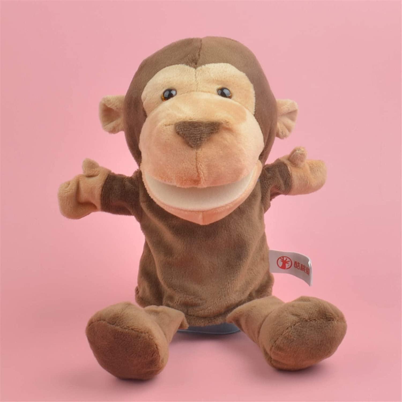 ZRSJ Vivid Plush Toys, 25cm Plush King Kong Puppets Simulation Animal Puppets Kids Gifts Monkey Hand Puppet,Plush Toys for Kids Childlike (Size : 25cm)