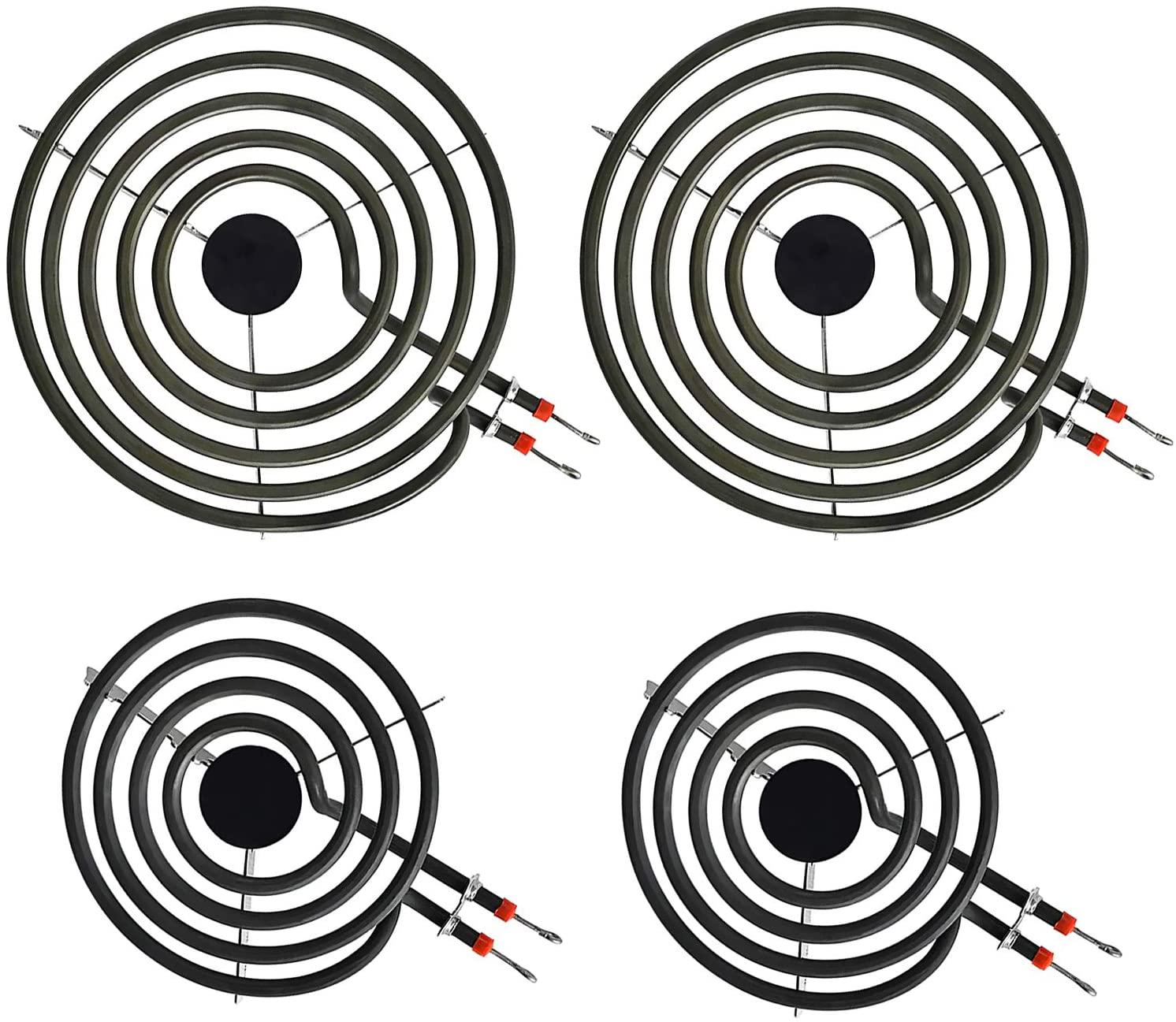 LXun MP22YA Electric Range Burner Element Unit Set, 4 Pack Included 2 x MP15YA 6