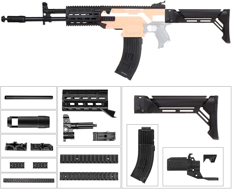 JGCWorker Mod Kit for Nerf Stryfe Blaster, AK Model Modification Toy for Outdoor Play (AK-12-1)