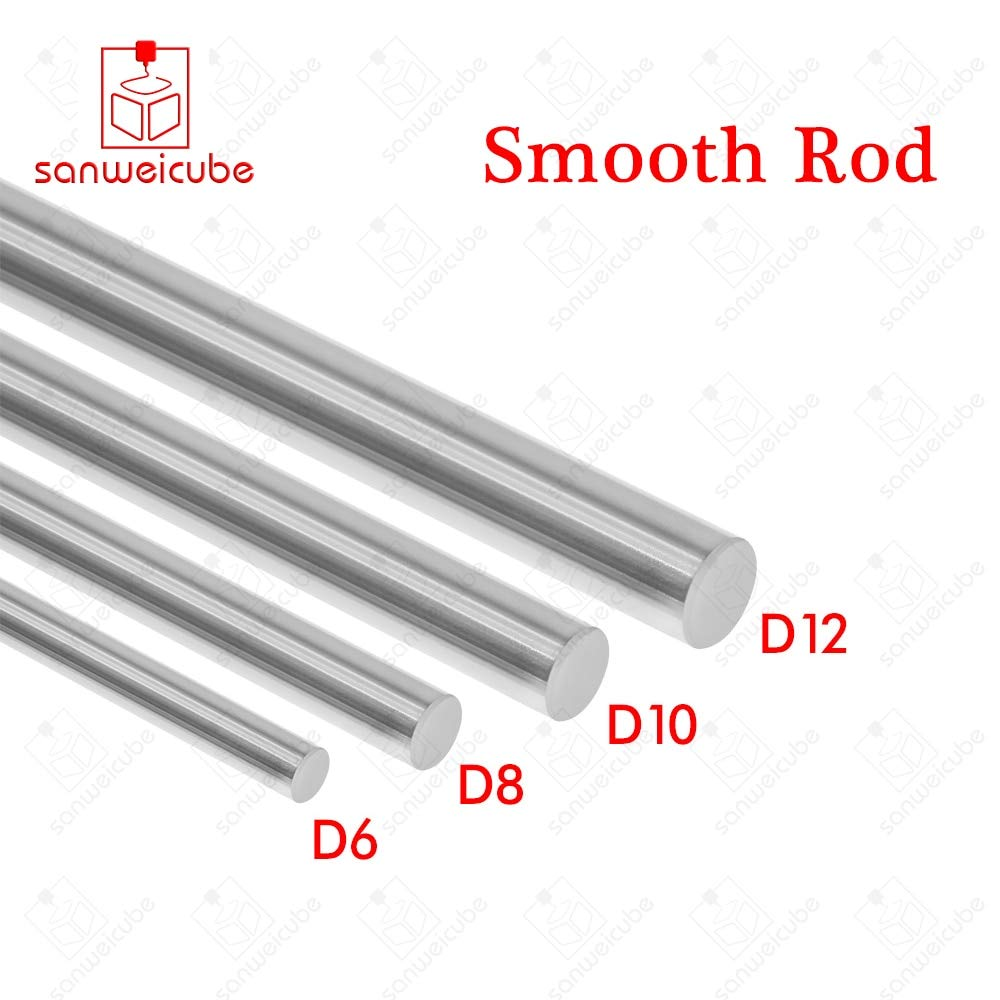 Ochoos 4pcs/lot 10 x100 Linear Shaft Diameter 3D Printer 10mm x 100mm Cylinder Liner Rail Linear Shaft for axis CNC Parts Linear Rail