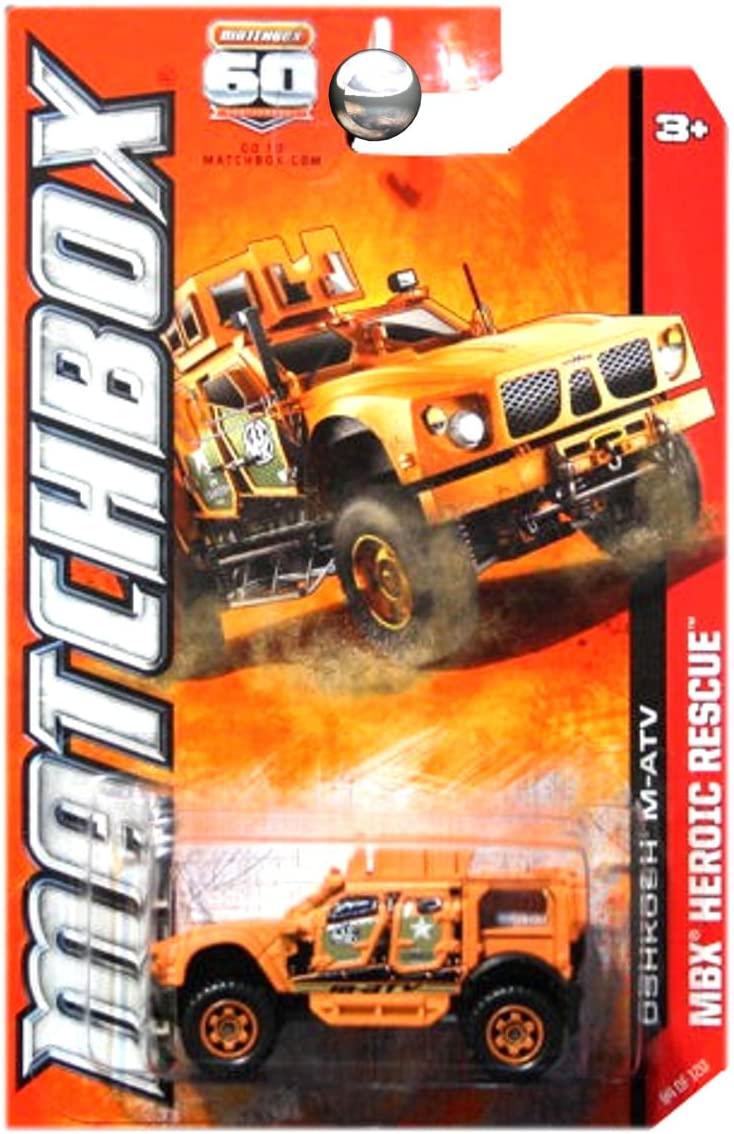 Matchbox 2013 Heroic Rescue Oshkosh M-ATV MATV Military Orange