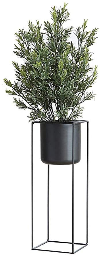 PLLP Home Plant Stand,Indoor Balcony Decoration Patio Shelves Plant Flower Pot Rack Nordic Iron Art Herb Bonsai Stand Outdoor Garden Metal Floor-Stand,Gold,Large