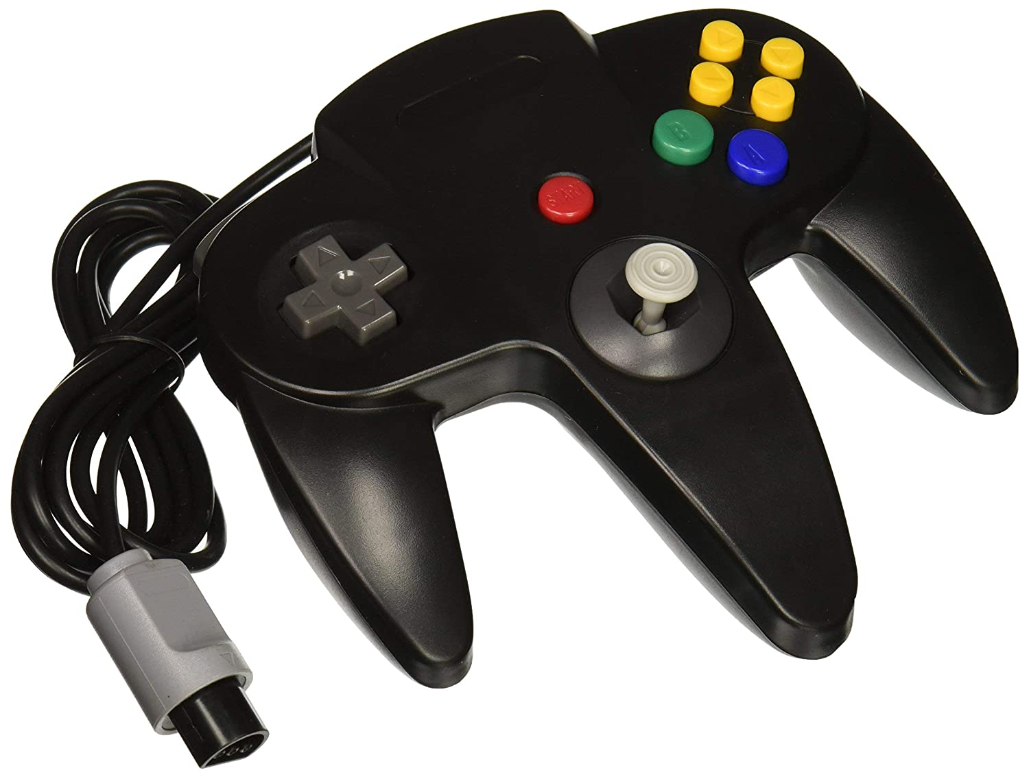 OSTENT Wired Controller Gamepad Joystick Joypad for Nintendo 64 N64 Console Video Games – Black (Certified Refurbished)