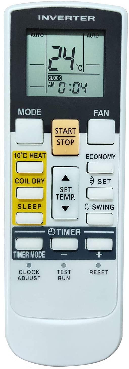 PROROK Air Conditioner Remote Control Compatible for Fujitsu Ar-Rae1u Ar-Rae2u Ar-rah2u Ar-rac1c Ar-rah1u Ar-ry3 Ar-ry4 Ar-ry5 Ar-Ry8 Ar-Ry9 Ar-ry11 Ar-ry12 Ar-ry13 Ar-ry15 Ar-ry16 Ar-ry18 Ar-ry19