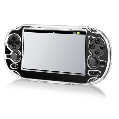 Importer520 Snap-on Transparent Crystal Clear Cover Case Compatible with Sony PlayStation PS Vita