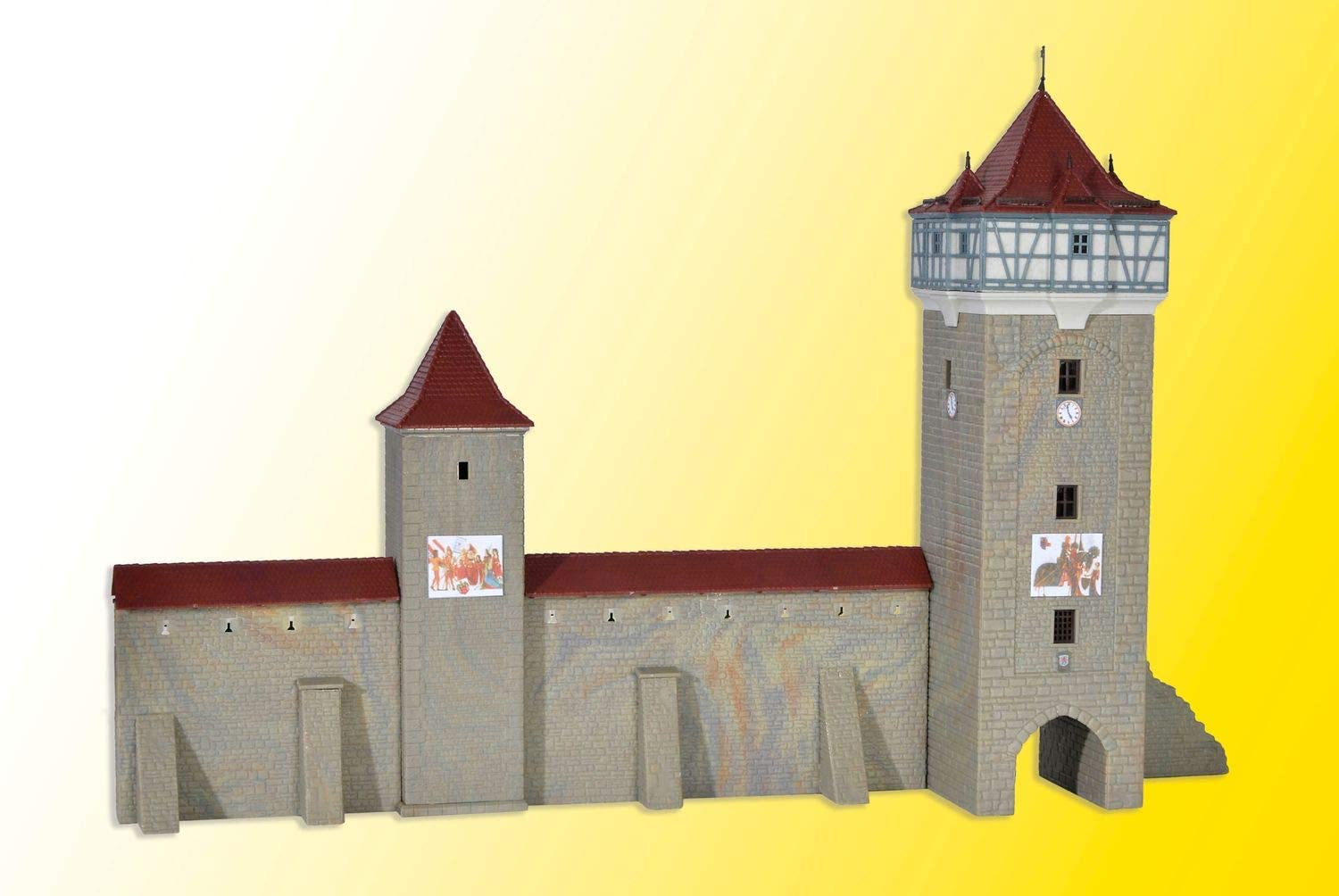 Kibri 37362 Town wall with tower Decoration