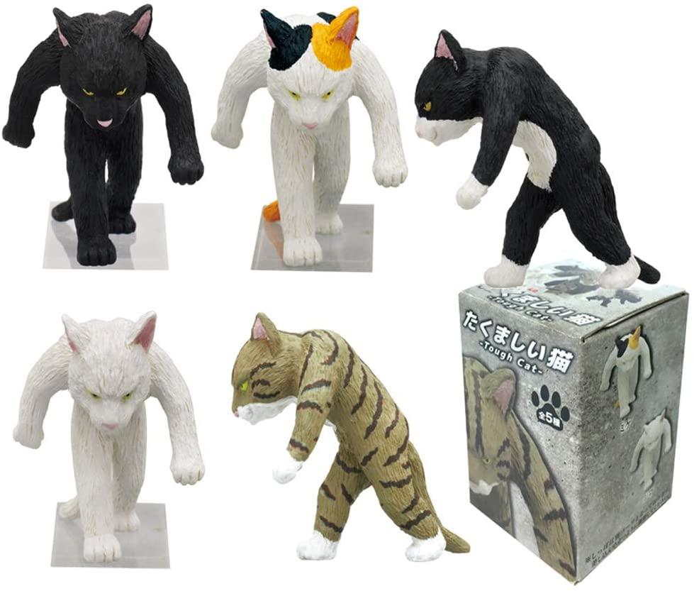 Kitan Club Tough Cat Plastic Toy - Blind Box Collectable Figurines - Fun, Versatile Decoration - Authentic Japanese Design (1pc)