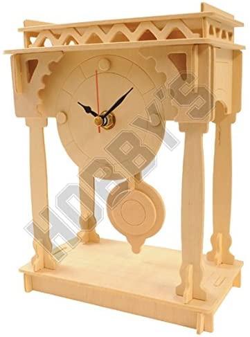 Wood Craft Assembly Bracket Clock Wooden Construction Clock Kit