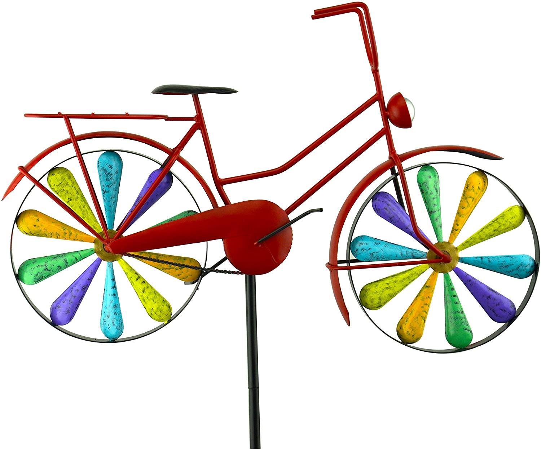 Red Carpet Studios 34479 Bike Garden Spinner Stake, Rainbow